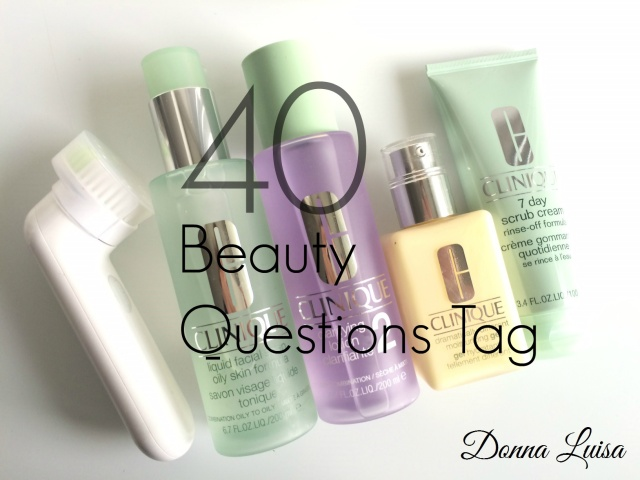 40 beauty questions tag