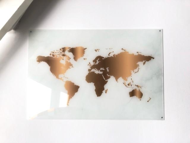 Tip! Een wereldkaart aan de muur